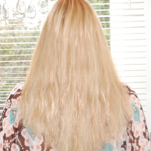hairextensions – volume – blond