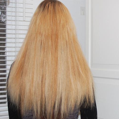 hairextensions van kort naar lang – blond